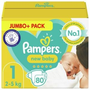 Pampers New Baby Jumbo Pack Size 1, 2 5kg 80pcs (uk) Smartmom Bangladesh