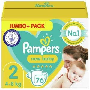 Pampers New Baby Jumbo Pack Size 2 4 8kg 76pcs (uk) Smartmom Bangladesh