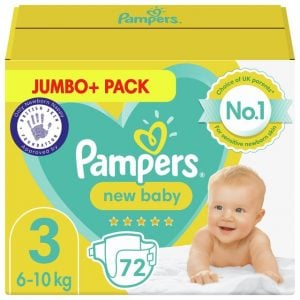 Pampers New Baby Size 3, 72 Nappies, 6kg 10kg, Jumbo+ Pack Smartmom Bangladesh