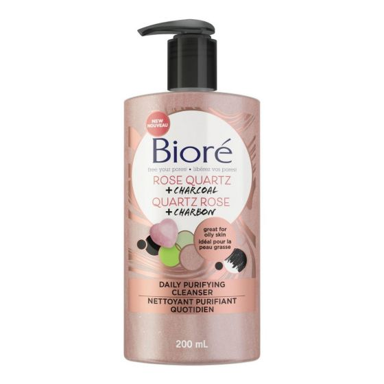 Biore Rose & Charcoal Daily Purifying Cleanser 200ml Smartmom Bangladesh