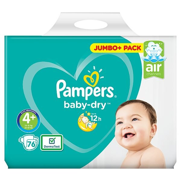 Pampers Baby Dry Diapers 4+ (10 15 Kg) 76pcs Smartmom Bangladesh